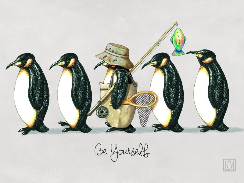 Be Yourself Penguins /BoDaisy Designs